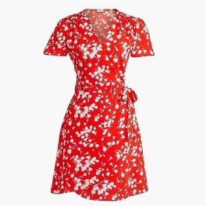 J. Crew floral wrap dress